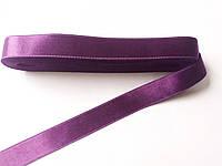 Стрічка атласна  двостороння 2 см Лента атласная двухсторонняя.( 10 метрів) фіолетовий , G-02-233