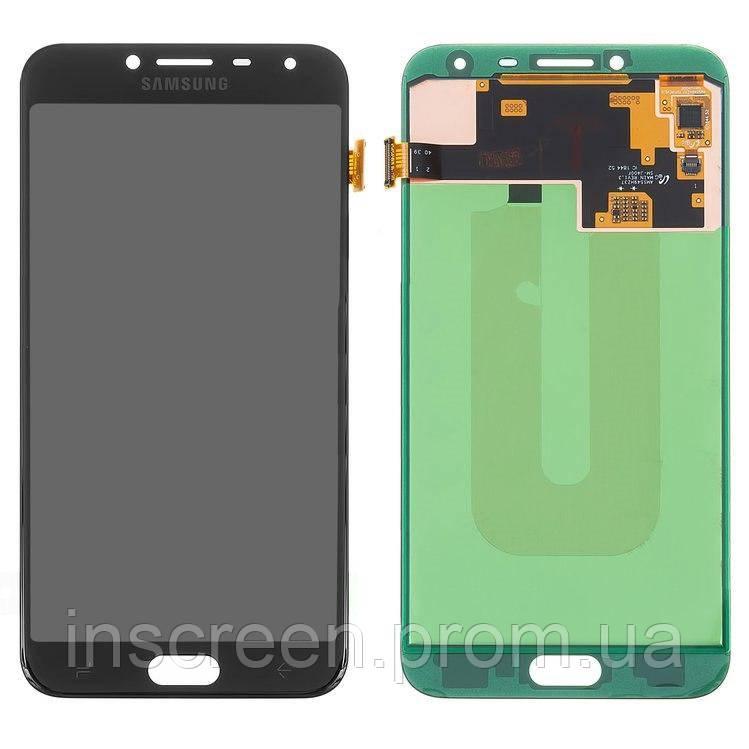 Дисплейний модуль для Samsung J400 Galaxy J4 (2018) чорний (GH97-21915A) Оригінал