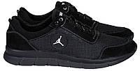 Новинка! 46-50 р! Jordan кроссовки мужские летние Джордан с сеткой и кожей большого размера черные