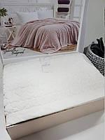 Двуспальное покрывало премиум класса Maison D`or GABRİELLA Кремовое