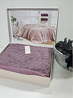 Двуспальное покрывало премиум класса Maison D`or GABRİELLA Фиолетовое