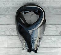 Теплый вязаный шарф, палантин Vlasite 7380-2 синий комбинированный унисекс, фото 1