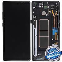 Экран (дисплей,lcd) Samsung Galaxy Note 8 N950 с передней панелью черный (GH97-21065A) Оригинал