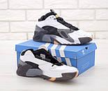 Чоловічі кросівки Adidas Streetball White Gray білі з сірим. Фото в живу. Репліка, фото 2