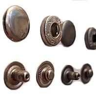 Кнопка Альфа 15мм Никель Турция