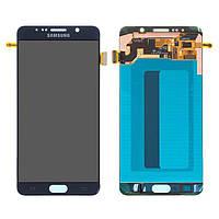 Экран (дисплей,lcd) Samsung N920F Galaxy Note 5 с тачскрином (сенсором,touchscreen) синий, Gold Platinum, OLED