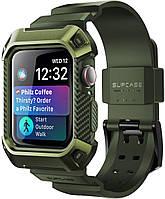 Чехол и ремешок SUPCASE UB Pro для Apple Watch 44 Series 4/5; чехол нв Apple Watch 5/4 - Dark Green