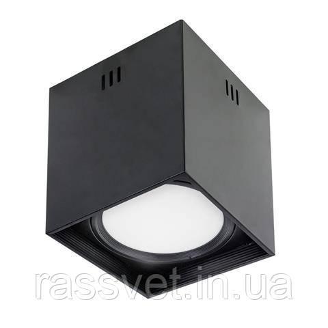"""Светильник  накладной квадрат.""""SANDRA-SQ10"""" 10W 4200K (черный,  белый)"""