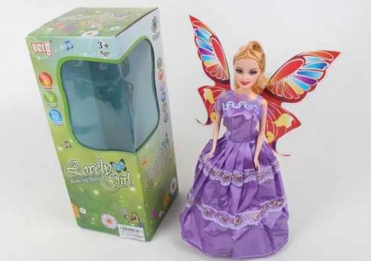 Музыкальная кукла с крыльями.Кукла фея.Детская пластмассовая кукла.