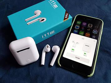 Наушники сенсорные беспроводные Bluetooth i11 TWS