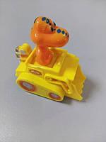 Детская машинка пластмассовая жёлтая с дракончиком
