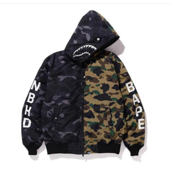 Зимова куртка Bape x NBHD Camo Black/Green