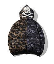 Зимова куртка Bape x NBHD Camo Black/Green, фото 2
