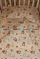 Детское постельное белье - Мишки (бязь, 100% хлопок)