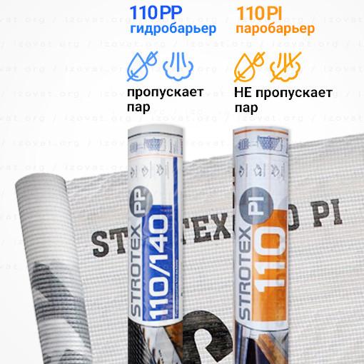 STROTEX Киев 110 PP, 110 PI, гидробарьер и паробарьер, армированый, Стротекс купить в Киеве