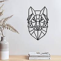 Волк Декор на стену Черный волк Силует волка на стене Деревянный волк Декор стены Голова волка XL: 322 мм x 500 мм