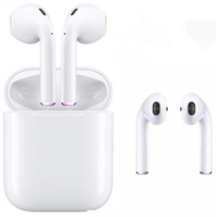 Бездротові сенсорні Bluetooth навушники i12 TWS Білі