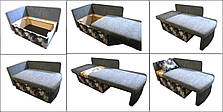 Диван детский Шпех 80см ( Амстердам+серый, малютка раскладной). Диванчик со спальным местом 2 метра, фото 3