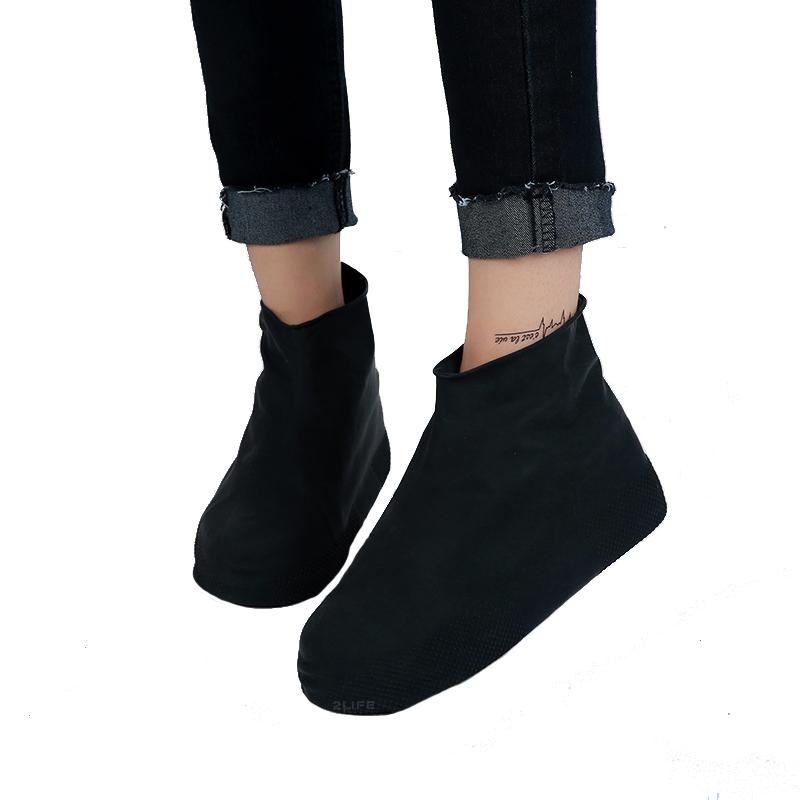 Бахилы для обуви от дождя, снега, грязи 2Life L многоразовые Черный (n-468)