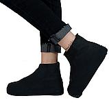Бахилы для обуви от дождя, снега, грязи 2Life L многоразовые Черный (n-468), фото 2