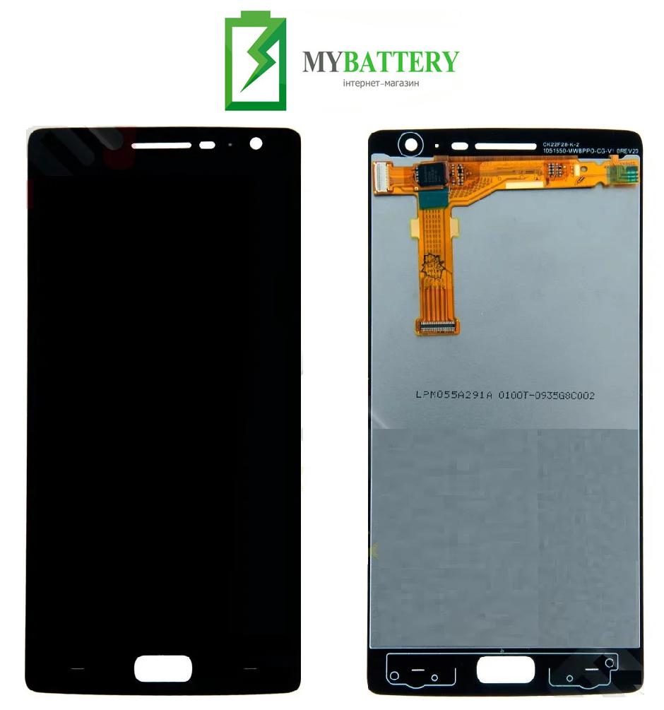 Дисплей (LCD) OnePlus 2 (A2003) с сенсором черный оригинал
