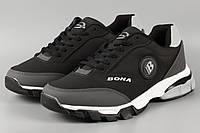 Кроссовки мужские черные Bona 757D Бона Размеры 43 44 45, фото 1