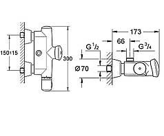 Термостат для душа автоматический Eurodisc SE GROHE 36244000