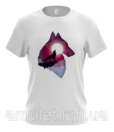 """Мужская футболка с прикольным принтом """"Волк"""", фото 2"""