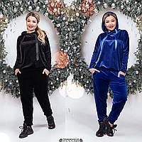 Велюровый спортивный костюм батал /разные цвета, 48-54, ST-56777/
