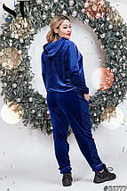 Велюровый спортивный костюм батал /разные цвета, 48-54, ST-56777/, фото 2