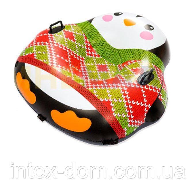 Одноместный надувной сани - тюбинг для катания Bestway 39062 «Пингвин», (121 х 118 см)