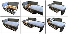 Детский диван Миньоны 80см, малютка раскладной. Диванчик со спальным местом 2 метра, фото 3