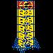 Вышка тура передвижная 1.2х2 ( 9+1 ), фото 4