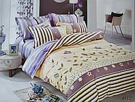 Сатиновое постельное белье семейное ELWAY 5012 «Абстракция»