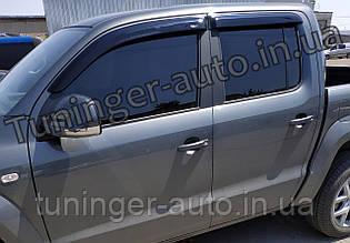 Ветровики, дефлекторы окон Volkswagen Amarok 2009- (HIC)