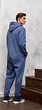 Комбинезон теплый мужской QSLEEP хлопок, рост 164-170 размер 44, фото 2