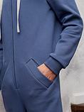 Комбинезон теплый мужской QSLEEP хлопок, рост 164-170 размер 44, фото 6
