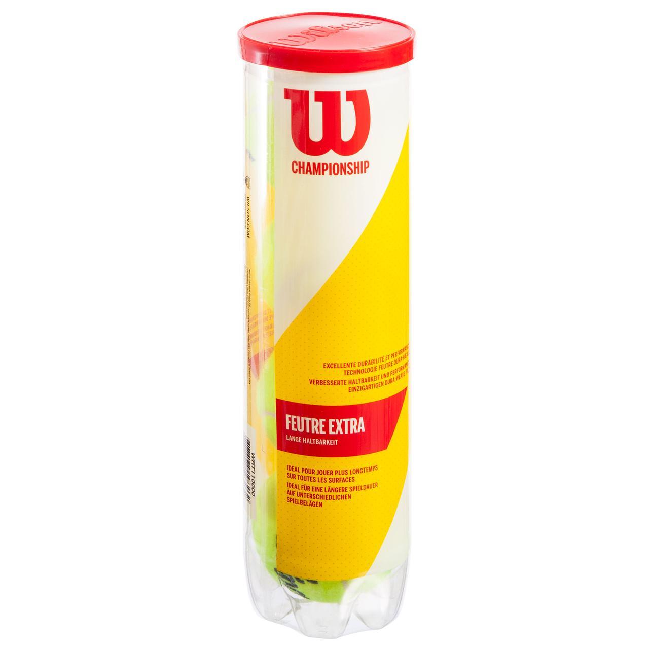 Мяч для большого тенниса WILSON (4шт) WRT110000