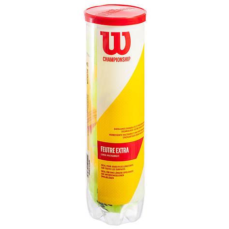 Мяч для большого тенниса WILSON (4шт) WRT110000, фото 2