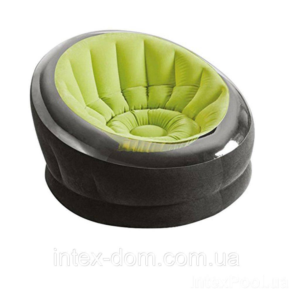 Надувне крісло Intex 66582 (112 х 109 х 69 см) (Зелене)