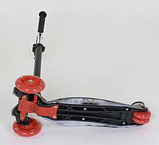 "Самокат А 24659 /779-1308 MAXI ""Best Scooter"" (1) пластмассовый, 4 колеса PU, СВЕТ, фото 3"