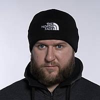 Шапка мужская зимняя черная теплая качественная The North Face