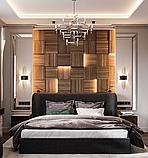 Стеновые деревянные панели с подсветкой, фото 4