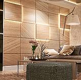 Стеновые деревянные панели с подсветкой, фото 5