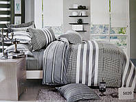 Сатиновое постельное белье семейное ELWAY 5020 «Абстракция»