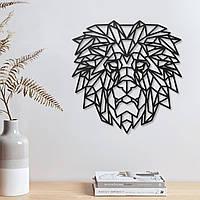 Голова льва Геометрическая голова Лев на стене Знак льва Декор для стен Подарки для него Магазин ручной работы XL: 485 мм x 500 мм