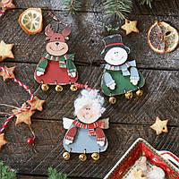 Набор елочных деревянных игрушек - Зимняя сказка