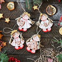 Новогодние деревянные игрушки на елку - Принцессы