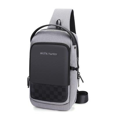 Мужской Рюкзак Однолямочный Через Плечо Маленький Arctic Hunter (XB00105) Городской Серый