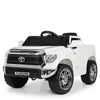 Детский электромобиль JJ2125EBLR-1 белый Toyota Tundra